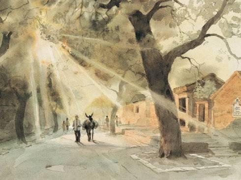 《城南旧事》电影手绘