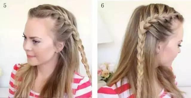 时尚 正文  step3:接着按照上面的步骤循环重复编上一个麻花辫.