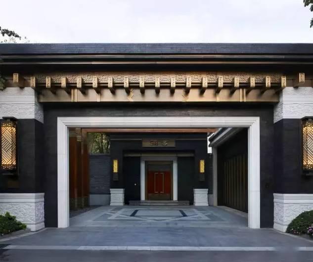 100个新中式入口设计图片