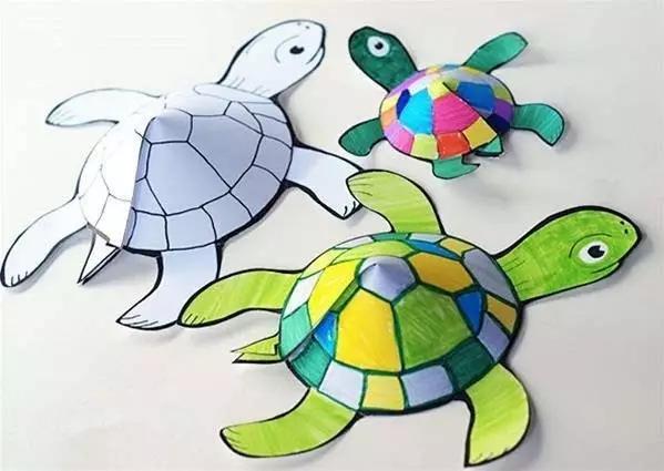 立体剪纸乌龟图片
