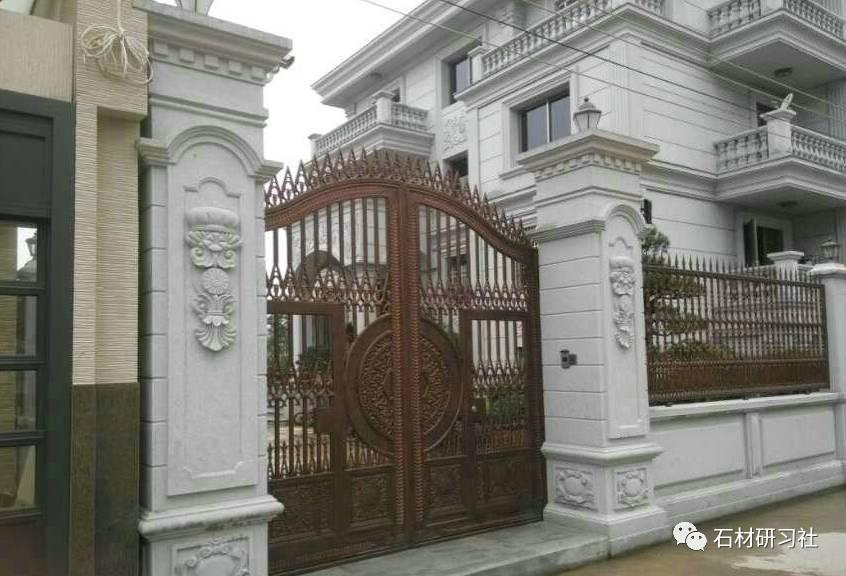 别墅围墙大门石柱设计案例大全