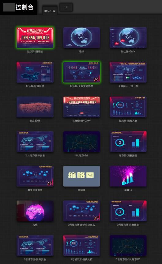 双十一数据可视化大屏技术分享图片