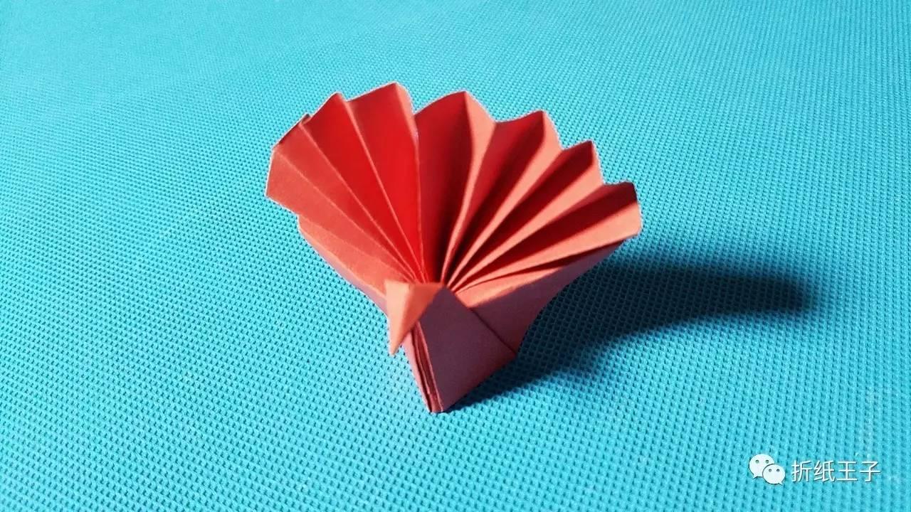 折纸王子教你折纸孔雀开屏