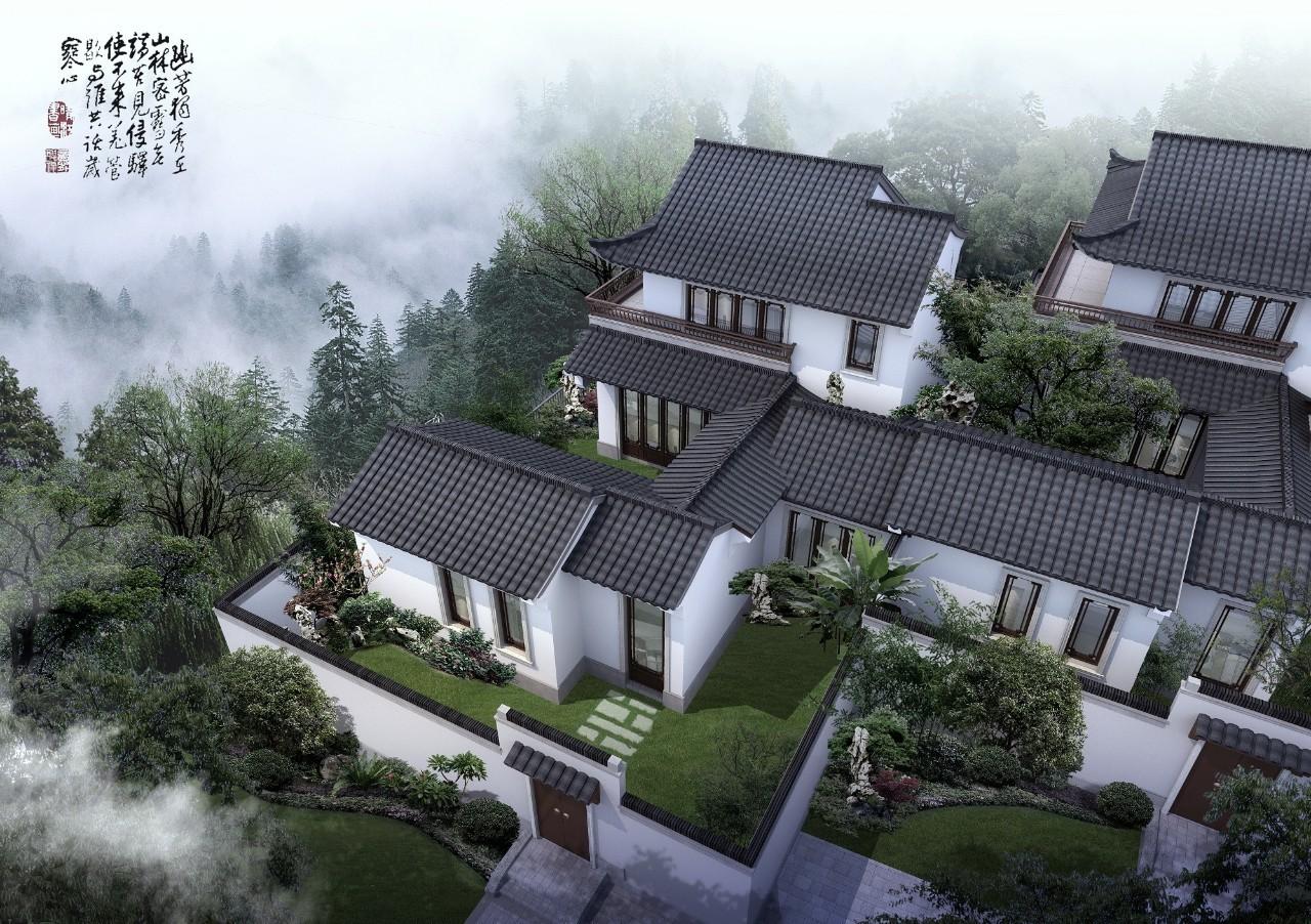 萧山这座90方单层中式别墅,有天有地有院子图片