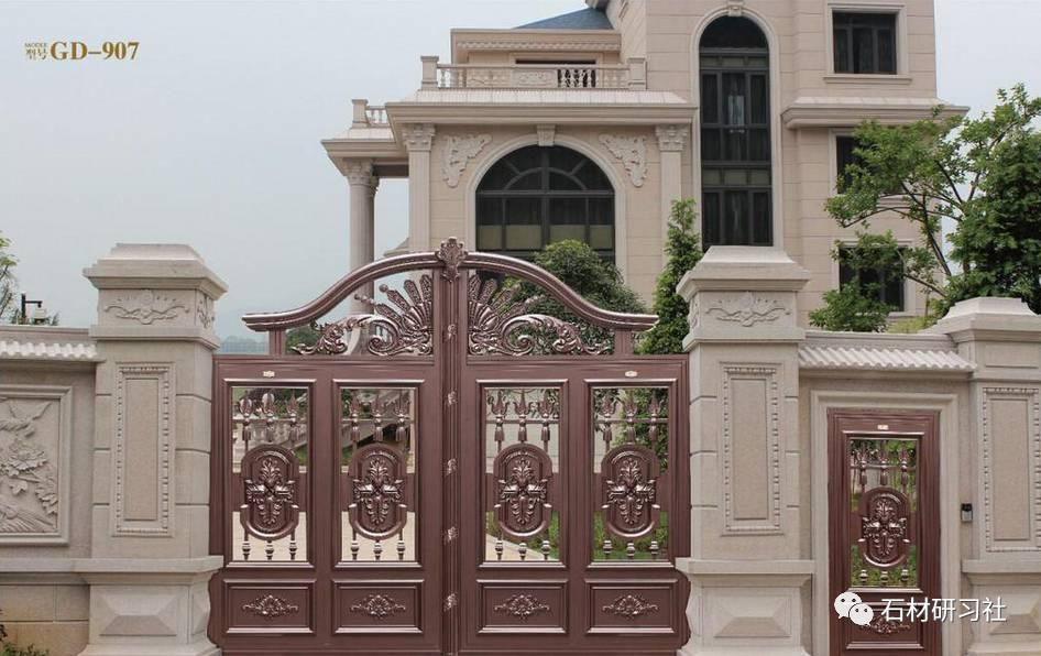 别墅围墙大门石柱设计案例大全图片
