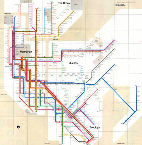 地铁线路图有什么好设计的?