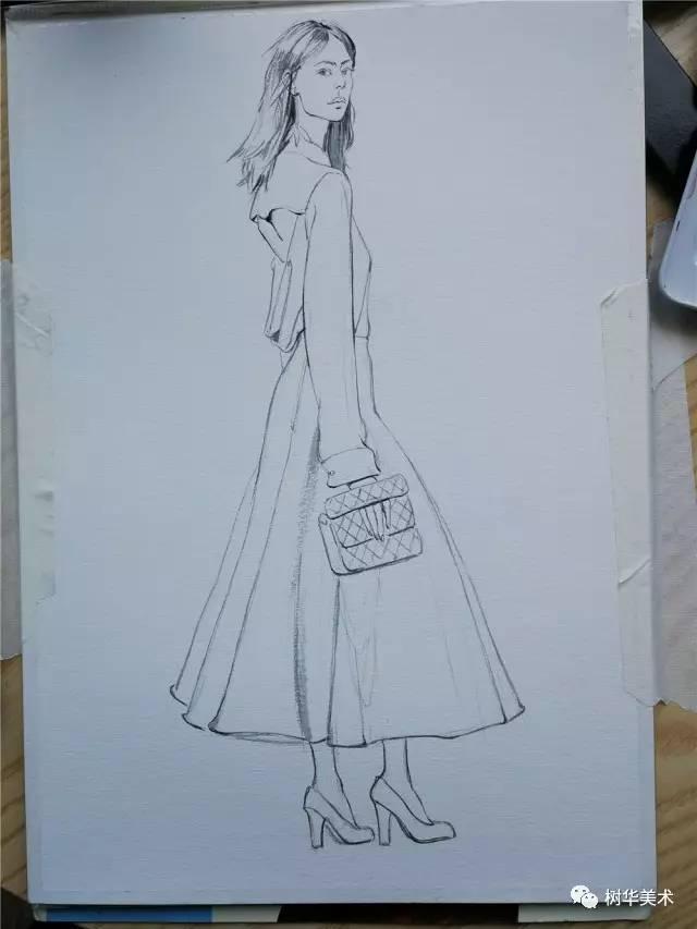 手绘教程 | 零基础也能画的服装时尚插画