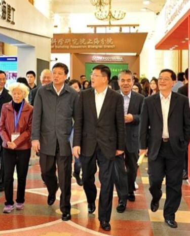 黄融_上海市政府副秘书长黄融莅临展会 bic 亚洲国际建筑工业化展览会