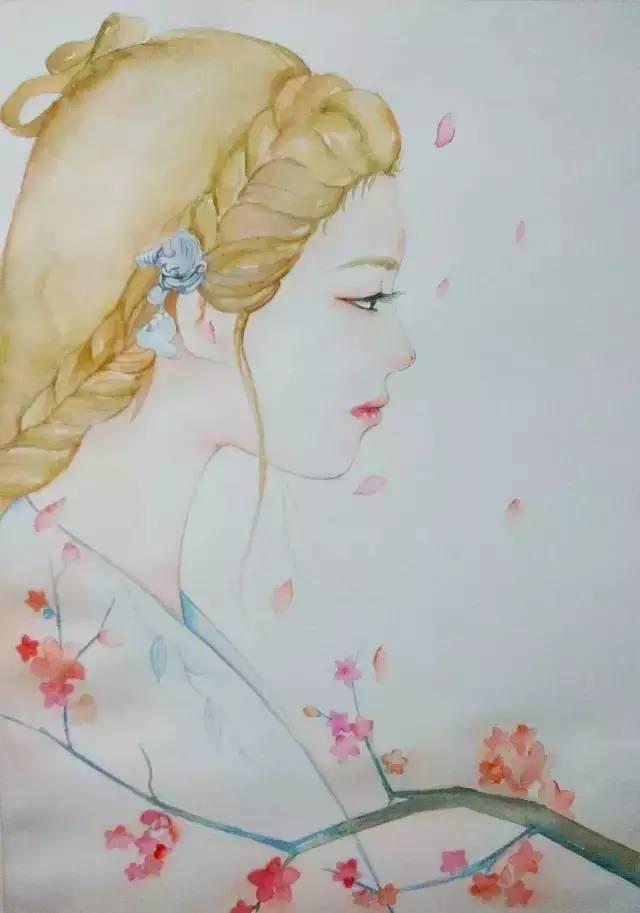 水彩教程 二次元女孩 会画画的云