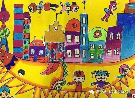 周靖茹 j777805082kn 李佳忆 12岁 女 蜡笔画 《我的梦》 指导老师