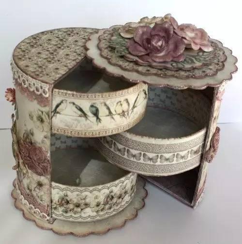 id:hq-diy 废旧纸盒鞋盒不要乱扔 改一改,变收纳盒首饰盒好用到爆
