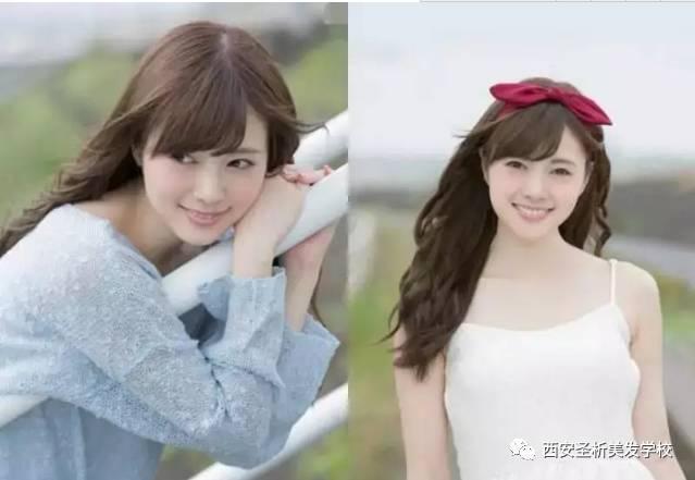 日式斜刘海发型欣赏,甜美风格get起来图片
