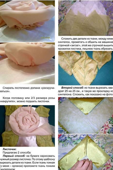 旧布旧衣服做了几个玫瑰花抱枕,没想到可以这么美