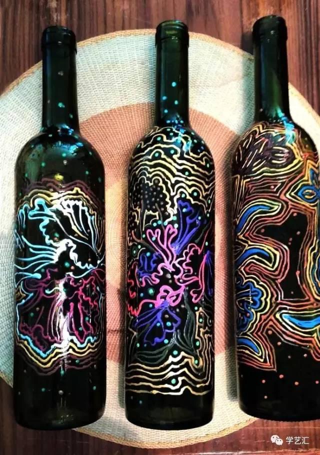 被手绘瓶子画的美惊艳到惹,从此爱上瓶瓶罐罐