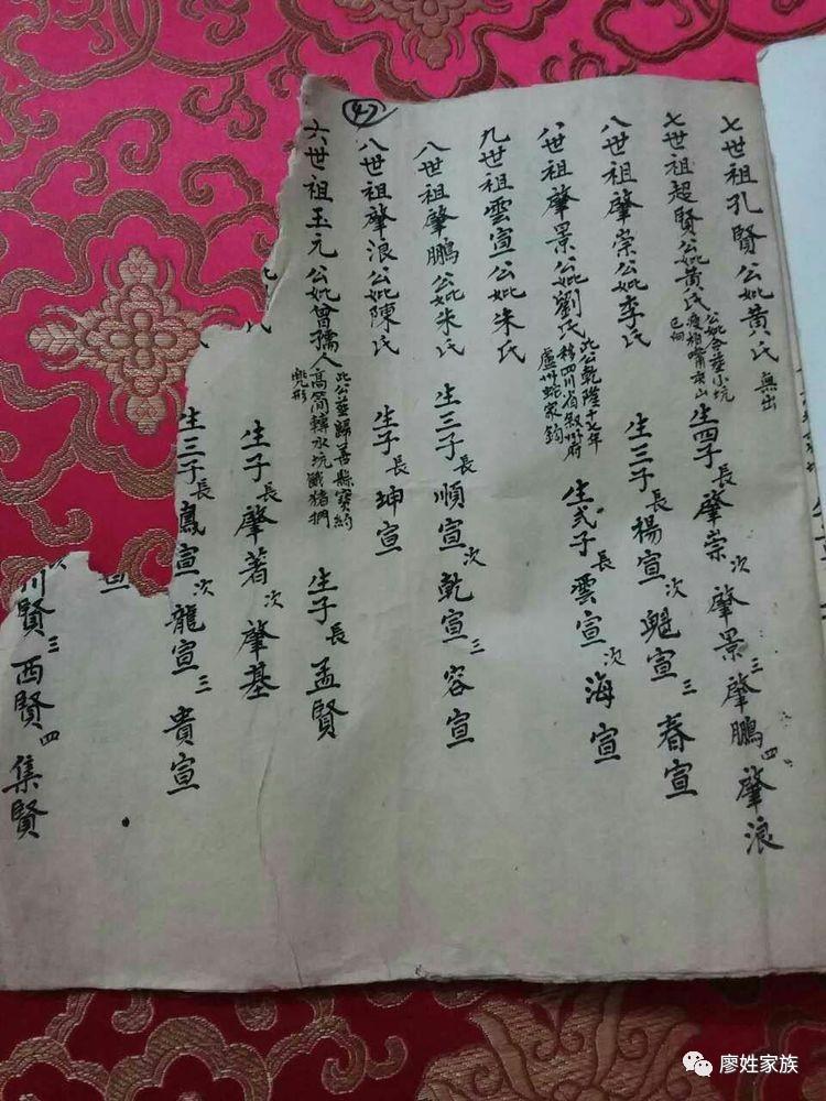 广西桂山廖氏族谱 老版图片