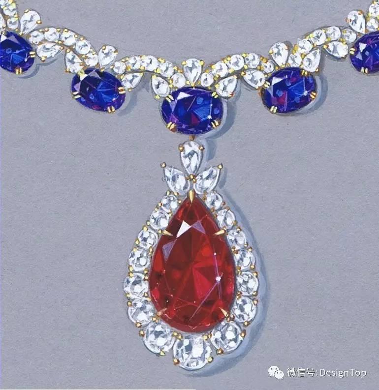 看多了产品的手绘,我们一起欣赏一些国外的玲琅满目的珠宝首饰方面的
