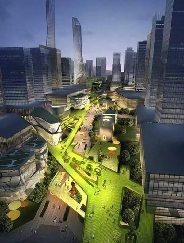 """据说,总投资300亿元的华润智慧小镇以物联网为基础,按""""4 1 3""""模式,打"""