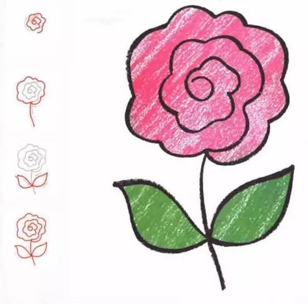 简笔画之花朵篇,看完后,你也能画得栩栩如生