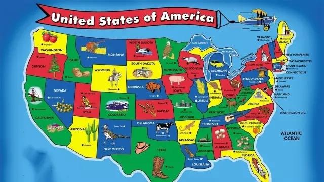 1首儿歌教你彻底记住美国50个州的英文名