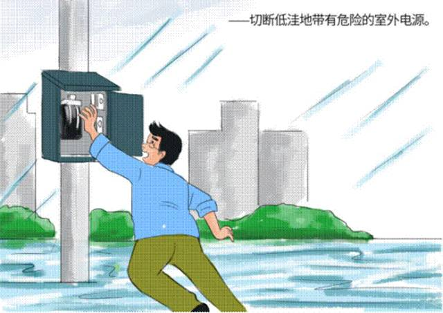 防汛安全小常识 漫画手册之 暴雨篇图片