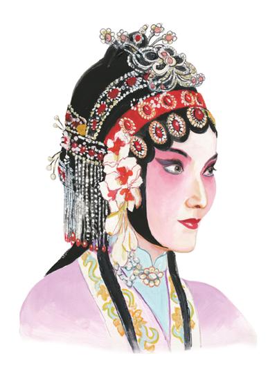 我眼中的国粹京剧:手绘绝美旦角头饰