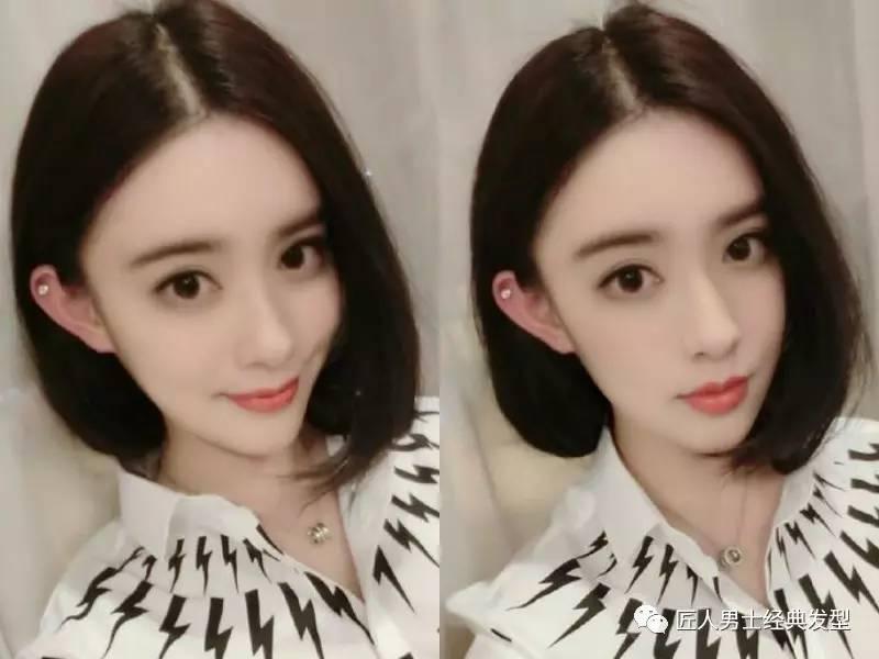中分内扣短发发型 女生修脸首选图片
