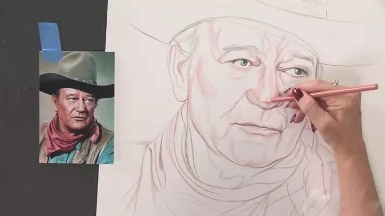 《超高清写实彩铅手绘人物肖像五官基础