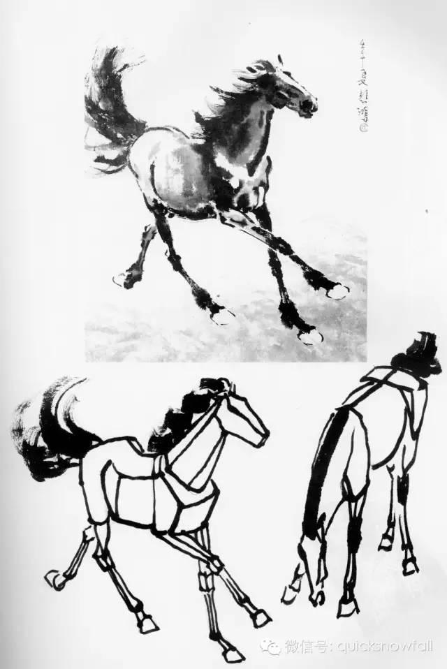 徐悲鸿画马技法 上篇图片