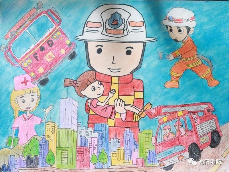 """【投票】""""我是小小消防员""""绘画作品网络人气奖评选开始啦!图片"""