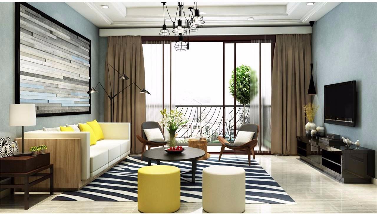 沙发背景墙,如何设计有新意?图片