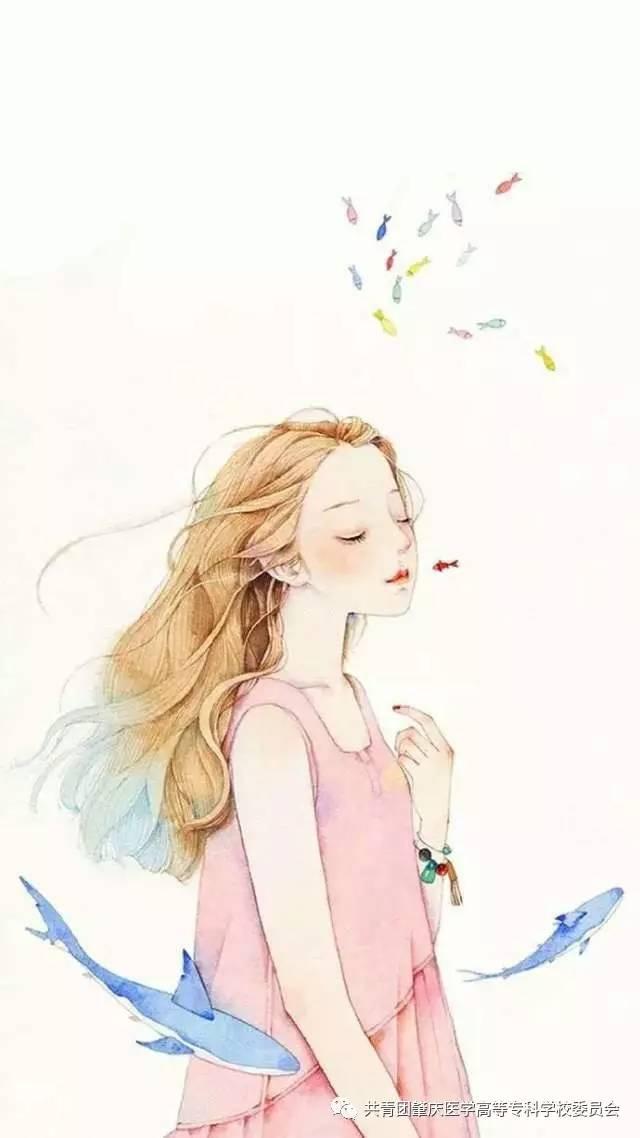头像女莲花手绘