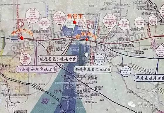 与潍坊有关的手绘地图