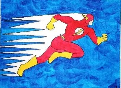 英雄人物儿童画