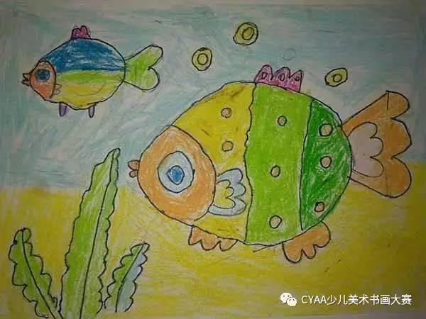 鸣 5岁 男 蜡笔画 《我和妈妈》 指导老师:沈海莲   J778405002 尚恩