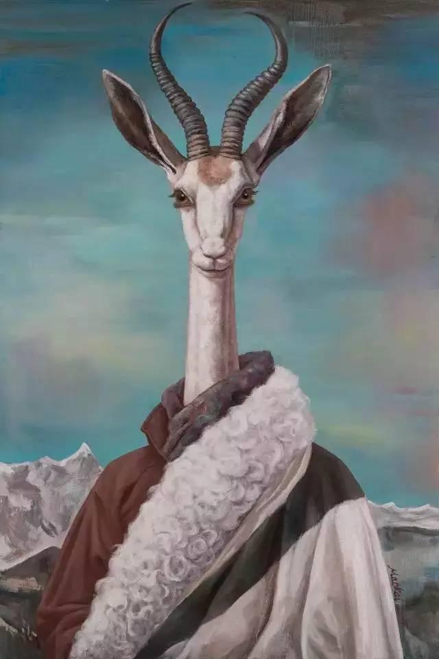 毛锎作品《高等动物之藏羚羊》
