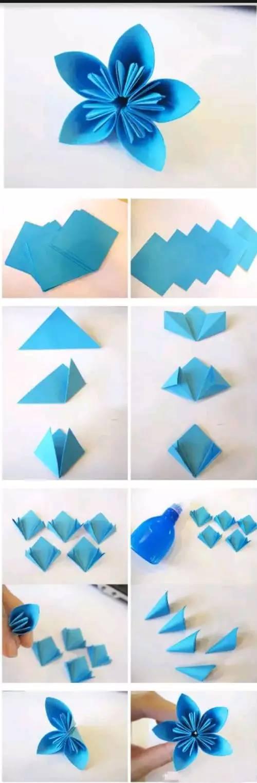 儿童折纸百合花步骤图解