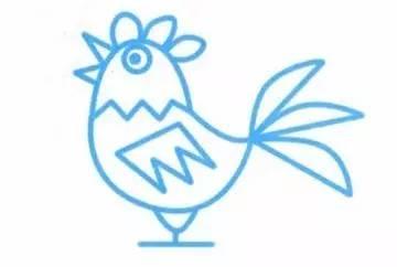 每日一舞 4步学会 大公鸡 简笔画,叫醒城市的动物