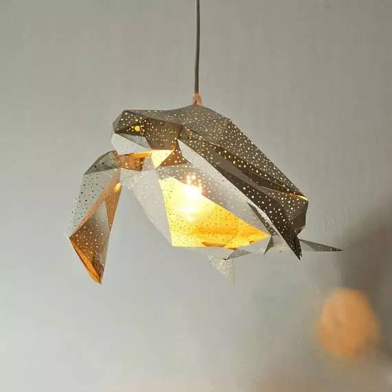 海洋小动物折纸灯罩,来测测你的小学手工课及格了吗?图片