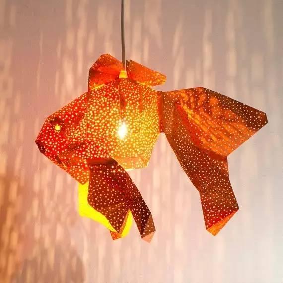 海洋小动物折纸灯罩,来测测你的小学手工课及格了吗?