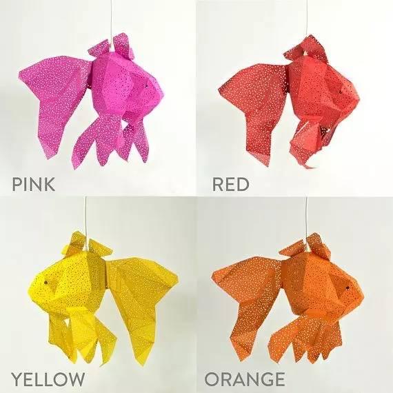 海洋小动物折纸灯罩,来测测你的小学手工课及格了吗