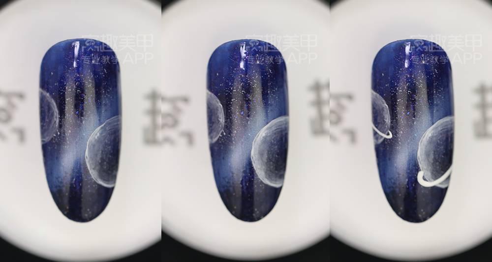 【窝趣晕染时尚教程】视频美甲星空甲三菱r3333tb操作说明图片