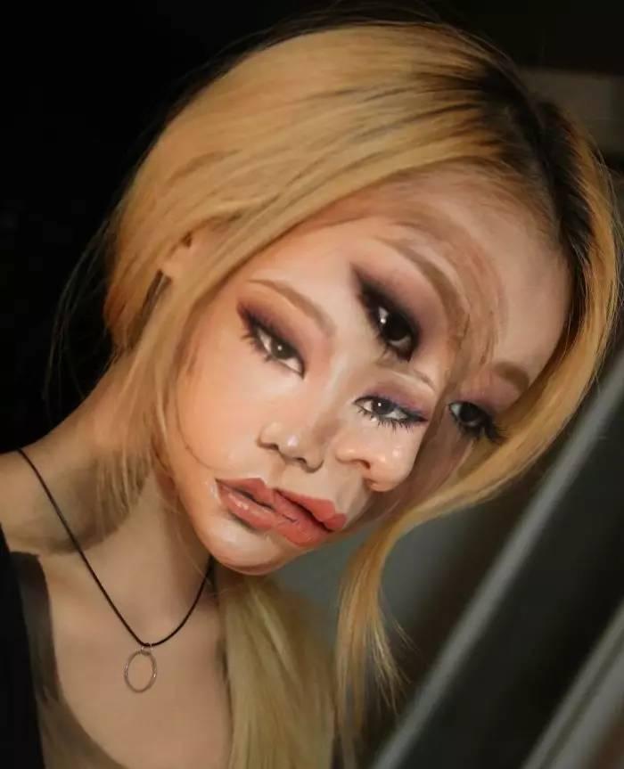 韩国姑娘以身体为画布创作出亦真亦幻的人体艺术