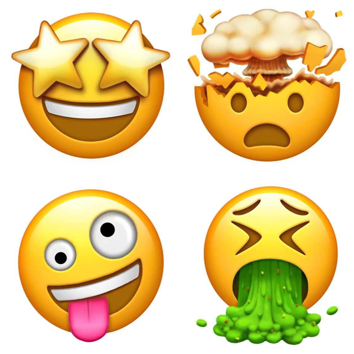 倒着的笑脸表情emoji图片