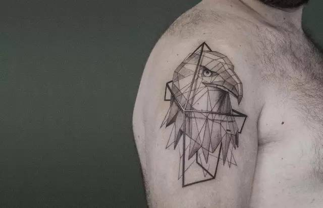 美丽的块面:3d动物 | 纹身