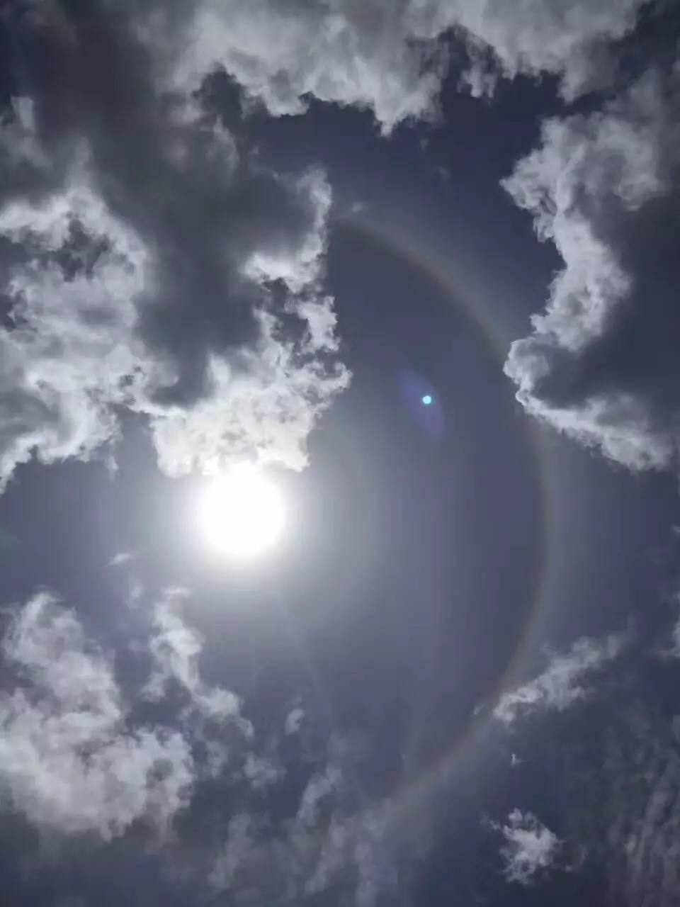 日晕 奇观,qq网名女生超拽霸气繁体字带符号但接下来的天气却