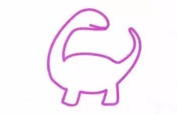 每日一画 4步学会 恐龙 简笔画,一秒回到侏罗纪