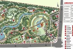 是新中式的明清风格,配以精忠文化主题,使老城区居民感受到公园的雅致