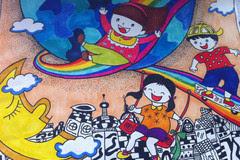 """强势围观∣上海朵伴教育科技有限公司第一届""""创意杯""""绘画大赛城市总图片"""