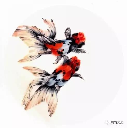 图文教程:扇面金鱼画法(下)