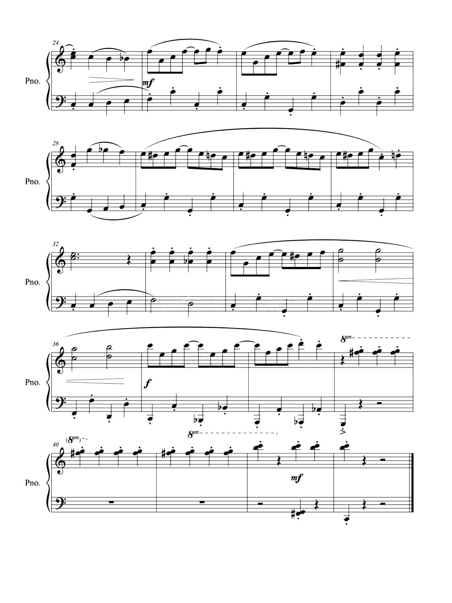 """钢琴谱子上课铃声-明天更新哪个曲子,猜猜看喽!   """"你哭着对我说,___里都是骗人的"""
